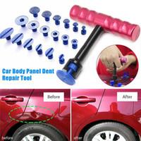 Wholesale dent puller resale online - 19Pcs Car Dent Removal Tools Kit Car Body Panel Puller Professional Removal Repair Panel Tool Auto Moto Damage Repair Tools HHA287