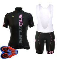 Wholesale ale cycling set resale online - 2018 Ale New Woman S Breathable Short Sleeve Cycling Sets Clothes Jerseys Bib Shorts Bike Ropa Ciclismo Bicycle Jersey