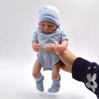 muñecas de chica de aspecto real al por mayor-Todo el cuerpo de silicona muñecas reborn Baby Reborn Baby Dolls hecho a mano Reborn 11 pulgadas Real Looking Newborn Baby Girl Silicone Realista Doll epacke