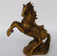 Wholesale antique bronze horse statues for sale - Group buy NEW The copper statue of fortune into the BMW success Zodiac horse bronze ornaments