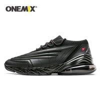 zapatillas energeticas al por mayor-ONEMIX zapatillas de deporte para hombres zapatos para correr para mujeres zapatos de cuero amortiguador de absorción media suela de energía suave para correr