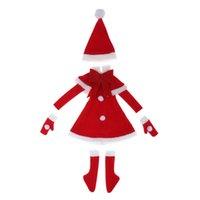 bjd bebek kıyafetleri toptan satış-Sevimli 1/3 BJD Bebek Giysileri Noel Partisi Kıyafetleri-Gece Lolita BJD Için Elbise Elbise Pelerin Eldiven Moda Kız Bebek