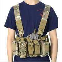 ingrosso attrezzature paintball-caccia maglia tattica di Airsoft di Paintball Carrier Chest Rig pacchetto Pouch leggero Duty Vest sacchetto esterno Sports Equipment Caccia