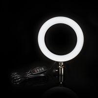 iluminación para la fotografía al por mayor-Fotografía LED Selfie Ring Light 16 / 26cm Iluminación sin escalonamientos de tres velocidades regulable con cabezal de cuna para maquillaje Video Live Studio