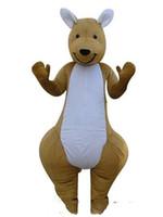 trajes de mascote de canguru venda por atacado-2018 venda direta da Fábrica um Kangaroo trajes da mascote adultos do natal do Dia Das Bruxas Outfit Fancy Dress Suit