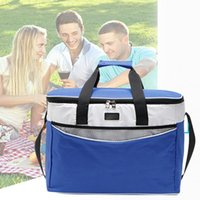 Wholesale thermal insulated cooler bags resale online - Adjustable Strap Thermal Insulated Drinks Oxford Cloth Cooler Lunch Bag Handle Storage Outdoor Picnic Zipper Portable