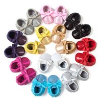 Wholesale baby moccasins shoes for sale - 2019 girls Handmade Soft Bottom Fashion Tassels Baby Moccasin Newborn Babies Shoes colors PU leather Prewalkers Boots