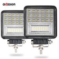 montaje de barcos al por mayor-ADZOON 126w DRL LED Luz de trabajo 10 30V 4WD 12v para Off Road Truck Bus Boat Fog Light Car Assembly