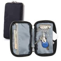 teléfono celular anti seguimiento al por mayor-Multi función de Oxford hombres Key Holder RFID bloqueando la llave del coche organizador de la caja monedero bolsa bolsa femenina