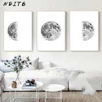 Wholesale single phases for sale - Group buy Moon Phase Canvas Poster Print Minimalist Wall Art Abstract Painting Nordic Decoration Pictures Modern Living Room Decor
