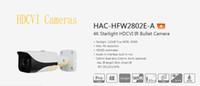 dahua hd bullet toptan satış-Stokta DAHUA Güvenlik Kamera CCTV 4 K Starlight HDCVI IR Bullet Kamera Logo Olmadan IP67 IK10 HAC-HFW2802E-A