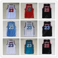каблуки оптовых-мужская NCAA Северная Каролина Tar Heels Джерси 23 Майкл Джерси Space Jam Tune Squad Баскетбольные майки S-XXL