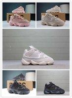 utilités de bébé achat en gros de-Adidas Yeezy Boost shoes 2019 Blush Desert Rat Infant 500 Runners enfants Chaussures de course Utility Black Baby Kanye West Tout-Petits Baskets Designer Baskets pour enfants