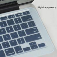 17 funda impermeable para laptop al por mayor-Película protectora de silicona para computadora portátil a prueba de polvo Película protectora portátil a prueba de agua 14 15 17 pulgadas Cubierta de teclado para computadora portátil