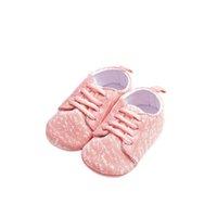ingrosso scarpe da prua dentellare-LONSANT Toddler Culla Scarpe New Cute Girl Pink Lace-Up maglia Sport Shoes moda autunno Neonata morbida e confortevole casual