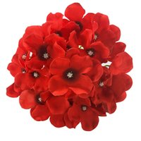 Wholesale green flowers hair decorations for sale - Group buy 18CM Colors Artificial Hydrangea Decorative Silk Flower Head For Wedding Wall ArchDIY Hair Flower Home Decoration accessory props