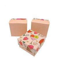 exibição do anel rosa venda por atacado-[Sete Simples] Rosa Doce Coração Crianças Jóias Ring Box Especialidade Brinco Studs Jóias Display Adorável Pingente De Armazenamento Titular 5 * 5 * 3 cm