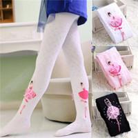mädchen rosa strumpfhose großhandel-Christmas Baby-Kleinkind-Kind-Kind-Mädchen-Baumwoll warme Strumpfhosen Socken Strümpfe Strumpfhosen 1-10Y