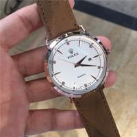 invicta relógios de luxo homens venda por atacado-Invicta homem relógios de pulso marca de luxo quente 42mm relógio de couro do vintage mens dress relógio de quartzo militar 6atm relógio do esporte relógio masculino