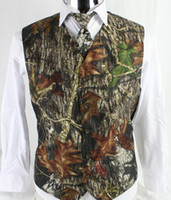Wholesale casual wedding men vests for sale - 2019 Farm Camo Groom Vests Wedding Vests Single breasted Slim Fit Men Kids And Adult Wedding Prom Wedding Party Custom Made Hunter Plus size