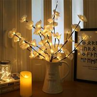 hochzeitstisch orchideen großhandel-20 leds 73 cm led simulation orchidee zweig lichter baum tischlampe led weidenzweig lichter für weihnachten party hochzeit dekoration