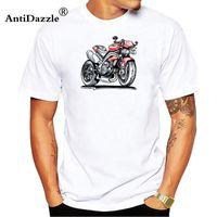 Wholesale men s tees online online – design Triple Triumph Tee Shirt Men Boy Online Designer White Short Sleeve Custom Plus Size Couple Camiseta