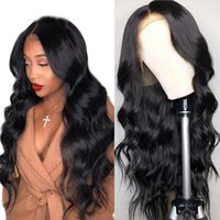 Wholesale real human hair wigs for sale - Group buy Real Human Hair Lace Wigs Pre Plucked Hairline Baby Hair Body Wave Virgin Brazilian Glueless Cheap Human Hair Full Lace Wigs Black Women