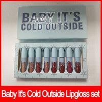 ingrosso lucentezza del bambino-2018 Newest Lips Makeup Christmas edition 8 pz / set Lip Gloss set 8 colori Baby It's Cold Outside lipgloss matte liquid lipstick