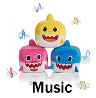 Wholesale baby gifts for girls for sale - Baby Shark Toys With Music Cute Animal Plush Baby Toy Shark Dolls Singing Song For Gift Children Girl shark Plush toy cm KKA6629