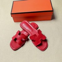 Wholesale sandals words for sale - Group buy 2019 non slip sandals women new letter soft leather slippers casual flat slippers female summer flat with a word drag slippers