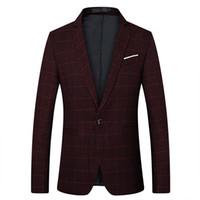 мужские пиджаки оптовых-Design Autumn Spring Suit  2018 New Arrival Clothes Men Blazers Fashion Slim Male Suits Casual ASIAN Size M-5XL
