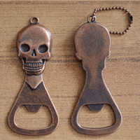 Wholesale mini beer bottle opener for sale - Group buy Creative Skull Style Bottle Openers Fashion Mini Portable Key Ring Beer Wine Bottle Opener Tool Keychain TTA1234