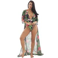 Wholesale lanyard pieces for sale - Group buy Tne new sexy bikini one piece print lanyard swimsuit two piece swimsuit sexy one piece lanyard bikini Special sales