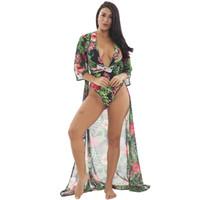 kordon parçaları toptan satış-Tne yeni 2019 seksi bikini tek parça baskı kordon mayo iki parçalı mayo seksi tek parça kordon bikini Özel satış