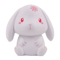Wholesale white bunny toy resale online - 60pcs Squishy Cute Bunny Rabbit Scented Slow Rising Rabbit Soft Squeeze Simulation Collection Anti stress Easter Gifts