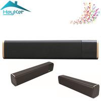 Wholesale portable speaker nfc resale online - Portable w True Wireless Bluetooth Speaker Soundbar Super Bass Stereo Loudspeaker with Touch NFC TV DSP For xaomi Boombox Bar