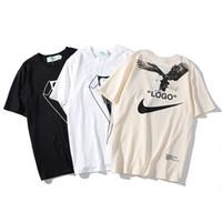 ingrosso arrow camicie-2019 NUOVA maglietta degli uomini GC 1911 Marca OW Croce freccia Lettera stampata T-Shirt manica corta uomo donna Hip Hop Street Style Top Tee Shirt Homme