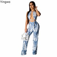 dcaacb705526 back out jumpsuits for women Canada - New Arrivals Tie Dye Printed Fashion  Woman Full Length