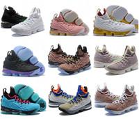 bhm basketball schuhe großhandel-Alle 15s Gleichheit Basketballschuhe für Männer James Bhm oreo New Lebron 15 Gleichheit Turnschuhe Szie 40-46