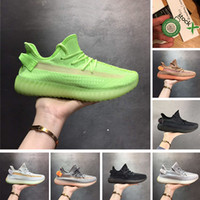 Wholesale spring angle resale online - With Stock X Box Grow GID Black Angle White Static Clay Hyperspace Running Shoes For Men Women Kanye West Designer Shoes Size