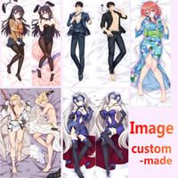 anime kucakacık yastıklar toptan satış-Japon Anime Custom Made DIY Hugging Vücut Yastık Kılıfı Kişiselleştirilmiş Otaku Dakimakura kader / büyük sipariş ve daha