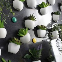Wholesale flower plant pot wall stickers for sale - Group buy Artificial Flower Succulent Plant Refrigerator Sticker Bonsai Refrigerator Magnet Creative Fake Potted Plant Home Wall DecorLS D
