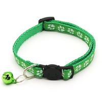 Easy Wear Cat Dog Collar With Bell Adjustable Buckle Dog Collar Cat Puppy Pet Supplies Accessories Small Dog Cat Safety Collar VT0833