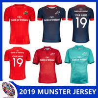 ingrosso caso di stampa uv-MUNSTER HOME JERSEY 2019/20 MUNSTER EUROPEAN JERSEY 2018/19 casa via rugby maglie Irlanda campionato di rugby taglia S-3XL (può stampare)