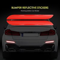 luz tronco universal venda por atacado-2 pcs Universal Tronco Do Carro Cauda Bumper Aviso de Segurança Adesivos Refletivos Reflexo Do Carro Refletor Traseiro Decalque Para BMW Audi Renault