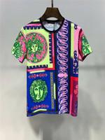 rosa camisetas crossfit venda por atacado-2019 Nova Chegada Top Quality Medusa Marca Roupas de Designer de Moda Masculina Camisetas Imprimir Tees Tamanho M-3XL 6279