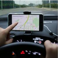 gps sahipleri bağlar toptan satış-Evrensel Araba HUD ABS Dashboard Klip Dağı Cep Telefonu GPS Navigasyon için Kelepçe Tutucu Stand