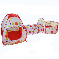 Wholesale baby ball tent online - 3Pcs Set Play Tent Baby Toys Ball for Children Tipi Tent Pool Ball Pool Pit Baby Tent House Crawling Tunnel