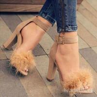 ingrosso pompe di marca di progettazione-Marca economici New sexy scarpe firmate estate fibbia Sandali con tacco punta del tallone di modo singola Alta Pompe CPA1113