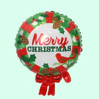 ingrosso felice farfalla-Natale rotondo Farfalla di alluminio Foil Balloons Happy Birthday Party Matrimonio pallone aerostatico Decorazione palle Bambini Baby regalo all'ingrosso